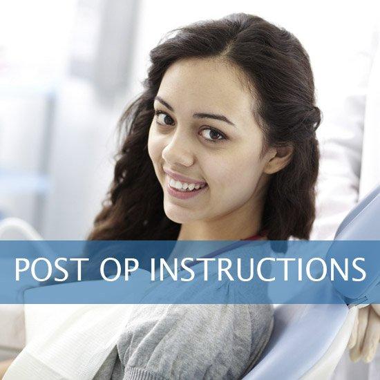 Post Op Instructions - Framingham Dentists, Unique Dental of Framingham.